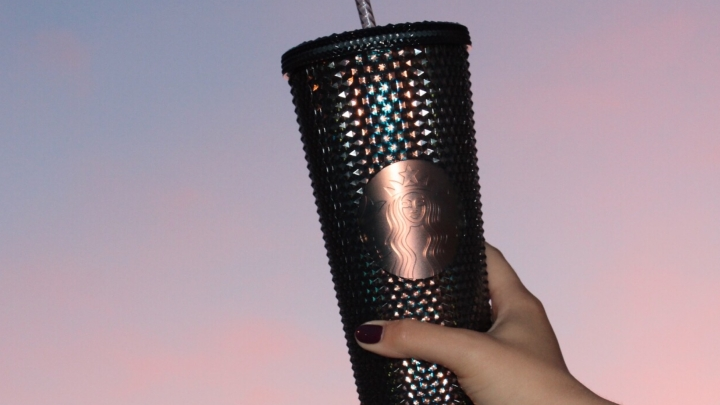 // the latest from the studded tumbler collection at starbucks //